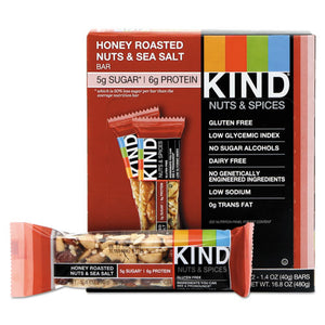 ESKND19990 - Nuts And Spices Bar, Honey Roasted Nuts-sea Salt, 1.4 Oz Bar, 12-box