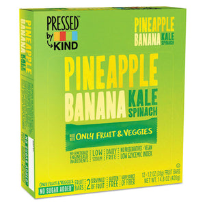 ESKND24065 - Pressed By Kind Bars, Pineapple Banana Kale Spinach, 1.2 Oz Bar, 12-box