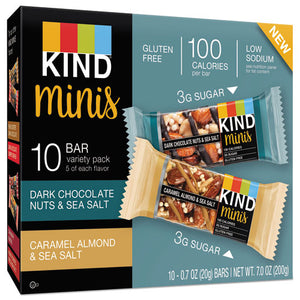 ESKND25726 - Minis, Almond And Sea Salt, Dark Chocolate Nuts, Sea Salt Caramel, 0.7 Oz, 10-pk