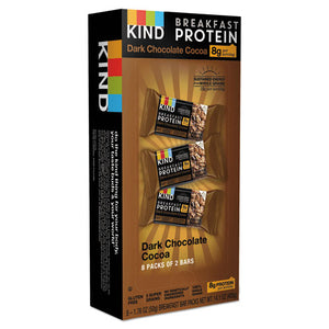 ESKND25954 - Breakfast Protein Bars, Dark Chocolate Cocoa, 50 G Box, 8-pack