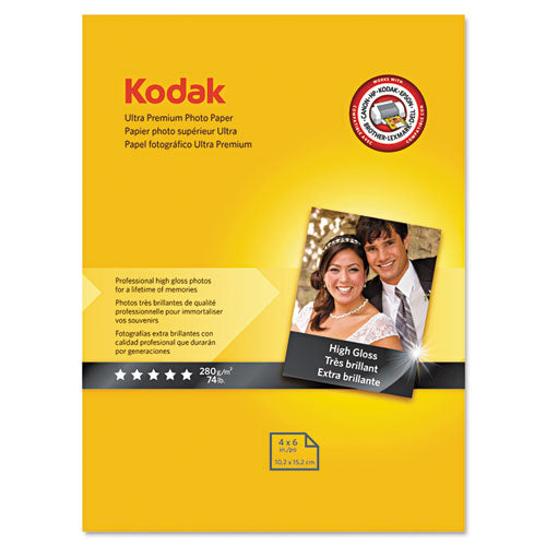 ESKOD8777757 - Ultra Premium Photo Paper, 10 Mil, High-Gloss, 4 X 6, 20 Sheets-pack