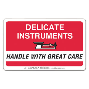 ESLMTL86 - Shipping-handling Self-Adhesive Label, 2 1-4 X 4, Delicate Instruments, 500-roll
