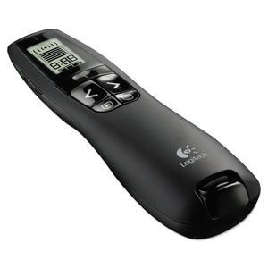 ESLOG910001350 - Professional Wireless Presenter W-green Laser Pointer, 100ft Projection, Black