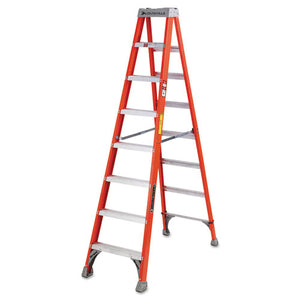 ESLOUFS1508 - Fs1500 Series Fiberglass Step Ladder, 8 Ft, 5-Step, Red