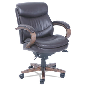 ESLZB48963B - Woodbury Mid-Back Executive Chair, Brown