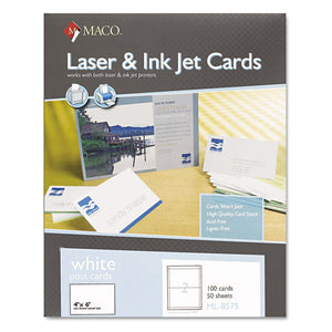 ESMACML8575 - Unruled Microperforated Laser-ink Jet Index Cards, 4 X 6, White, 100-box