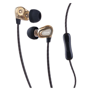 ESMAX199771 - DUAL DRIVER EARBUDS WITH MIC, GOLD