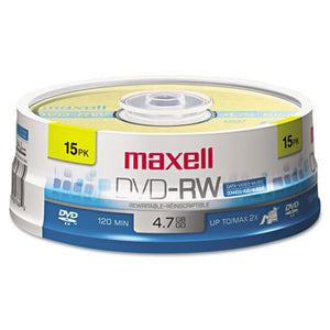 ESMAX635117 - Dvd-Rw Discs, 4.7gb, 2x, Spindle, Gold, 15-pack