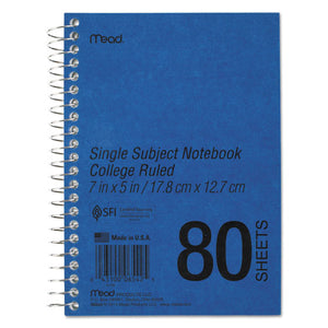 ESMEA06542 - Durapress Cover Notebook, College Rule, 7 X 5, White, 80 Sheets