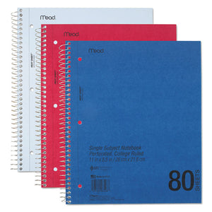 ESMEA06548 - Durapress Cover Notebook, College Rule, 11 X 8 1-2, White, 80 Sheets