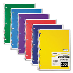 ESMEA06622 - Spiral Bound Notebook, Perforated, College Rule, 11 X 8, White, 100 Sheets