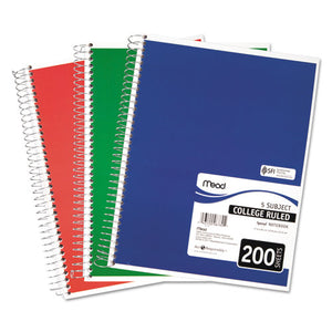 ESMEA06780 - Spiral Bound Notebook, Perforated, College Rule, 11 X 8, White, 200 Sheets