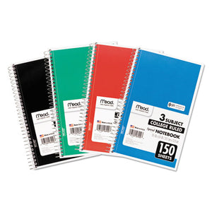 ESMEA06900 - Spiral Bound Notebook, Perforated, College Rule, 9.5 X 5.5, White, 150 Sheets