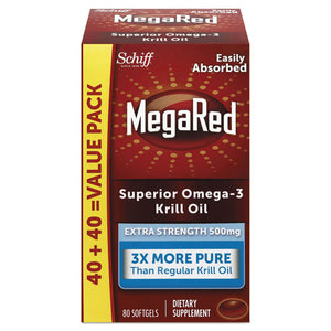 ESMEG98093EA - EXTRA STRENGTH OMEGA-3 KRILL OIL SOFTGEL, 80 SOFTGELS