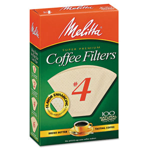 ESMLA624602 - Coffee Filters, Natural Brown Paper, Cone Style, 8 To 12 Cups, 1200-carton