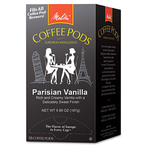 ESMLA75411 - Coffee Pods, Parisian Vanilla, 18 Pods-box