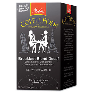 ESMLA75413 - Coffee Pods, Breakfast Blend Decaf, 18 Pods-box