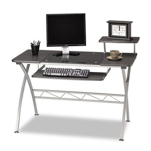 ESMLN972ANT - Eastwinds Vision Computer Desk, 47-1-4w X 27d X 34h, Anthracite With Black Glass