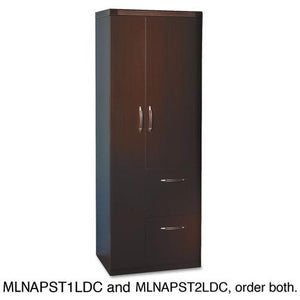 ESMLNAPST1LDC - Aberdeen Series Personal Storage Tower, Box 1 Of 2, 24w X 24d X 68-3-4h, Mocha