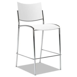ESMLNESS2W - Escalate Stacking Stool, Plastic Back-seat, White, 2 Stools-carton