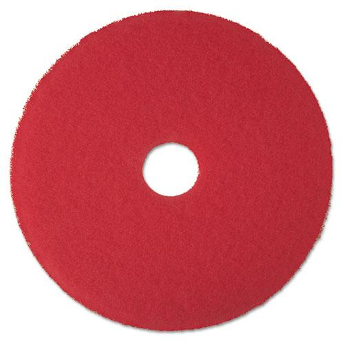 "ESMMM08392 - Low-Speed Buffer Floor Pads 5100, 17"" Diameter, Red, 5-carton"