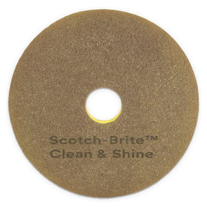 "ESMMM09541 - CLEAN AND SHINE PAD, 20"" DIAMETER, YELLOW-GOLD, 5-CARTON"