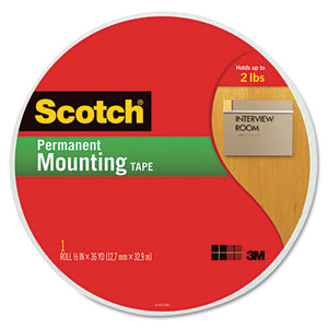 "ESMMM110MR - Foam Mounting Tape, 3-4"" Wide X 1368"" Long"