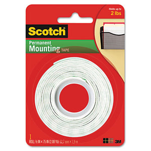 "ESMMM110 - Foam Mounting Double-Sided Tape, 1-2"" Wide X 75"" Long"