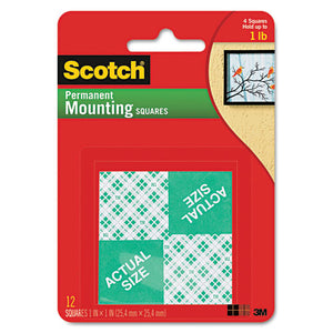 ESMMM111P - Precut Foam Mounting 1 Squares, Double-Sided, Permanent 16-pack