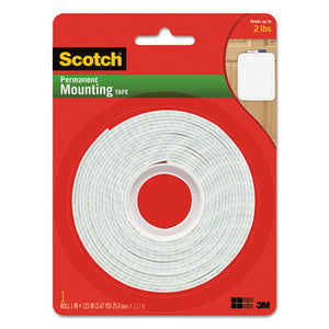 "ESMMM112L - Permanent High-Density Foam Mounting Tape, 1"" Wide X 125"" Long"