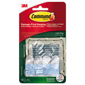 ESMMM17017CLRAWES - All Weather Hooks And Strips, Plastic, Small, 16 Clips & 20 Strips-pack