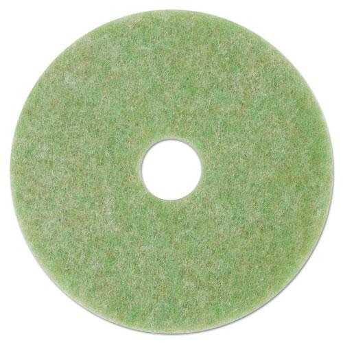 "ESMMM18046 - Low-Speed Topline Autoscrubber Floor Pads 5000, 14"" Diameter, Green-orange, 5-ct"