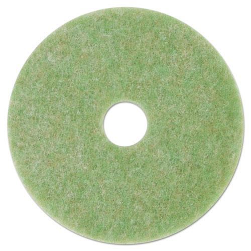 "ESMMM18049 - Low-Speed Topline Autoscrubber Floor Pads 5000, 17"" Diameter, Green-orange, 5-ct"