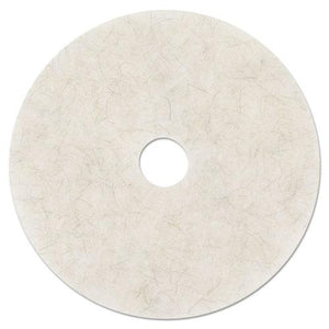 "ESMMM18210 - Ultra High-Speed Natural Blend Floor Burnishing Pads 3300, 20"" Dia., White, 5-ct"