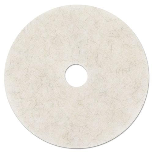 "ESMMM18213 - Ultra High-Speed Natural Blend Floor Burnishing Pads 3300, 24"" Dia., White, 5-ct"