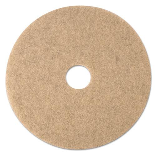 "ESMMM19009 - Ultra High-Speed Natural Blend Floor Burnishing Pads 3500, 21"" Dia., Tan, 5-ct"