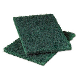 ESMMM20502 - Heavy-Duty Commercial Scouring Pad 86, Dark Green, 6 X 9, 6-pack, 10 Pack-carton