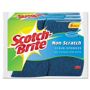 ESMMM526 - Non-Scratch Multi-Purpose Scrub Sponge, 4 2-5 X 2 3-5, Blue, 6-pack