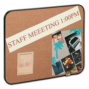 ESMMM558BBS - Sticky Self-Stick Cork Board, 22 X 18, Natural, Black Frame