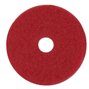 "ESMMM59065 - Low-Speed Buffer Floor Pads 5100, 28"" X 14"", Red, 10-carton"