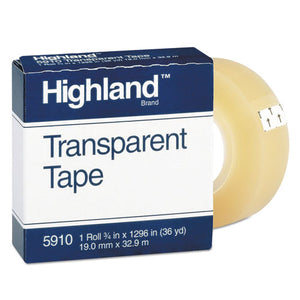 "ESMMM5910341296 - Transparent Tape, 3-4"" X 1296"", 1"" Core, Clear"