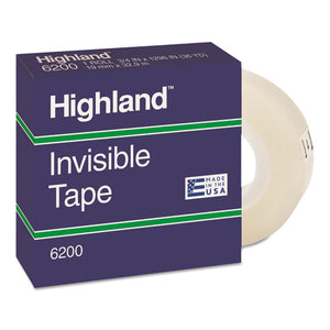 "ESMMM6200341296 - Invisible Permanent Mending Tape, 3-4"" X 1296"", 1"" Core, Clear"