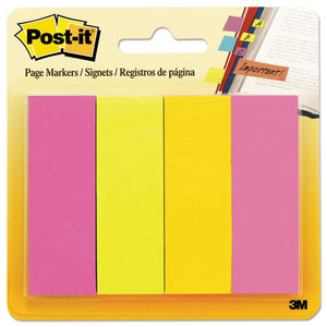 ESMMM6714AU - Page Flag Markers, Assorted Brights, 50 Strips-pad, 4 Pads-pack