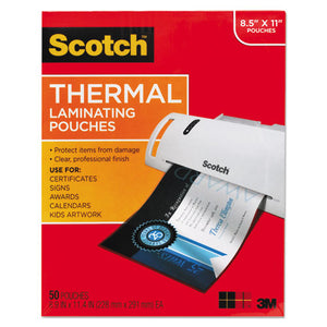 ESMMMTP385450 - Letter Size Thermal Laminating Pouches, 3 Mil, 11 1-2 X 9, 50-pack
