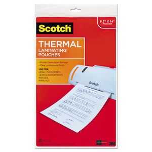ESMMMTP385520 - Menu Size Thermal Laminating Pouches, 3 Mil, 8 1-2 X 14, 20-pack