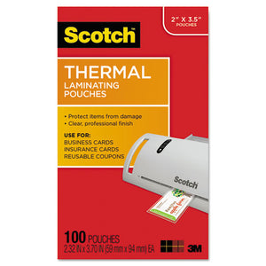 ESMMMTP5851100 - Business Card Size Thermal Laminating Pouches, 5 Mil, 3 3-4 X 2 3-8, 100-pack