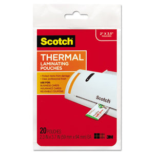 ESMMMTP585120 - Business Card Size Thermal Laminating Pouches, 5 Mil, 3 3-4 X 2 3-8, 20-pack