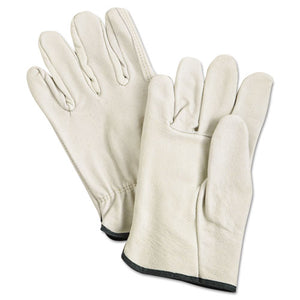 ESMPG3400M - Unlined Pigskin Driver Gloves, Cream, Medium, 12 Pairs