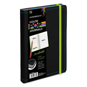 ESNEE98831 - Colorpop Journal, College Ruled, 8 1-4 X 5 1-8, Black, 240 Sheets