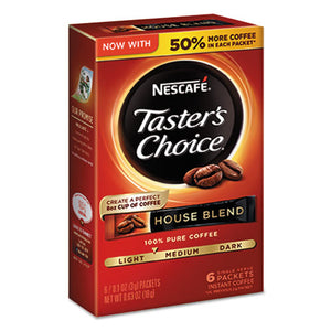 ESNES32486 - Taster's Choice House Blend Instant Coffee, 0.1oz Stick, 6-box, 12box-carton